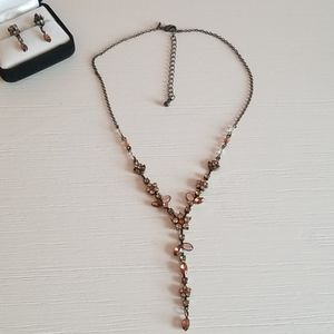 Vintage avon earring necklace set